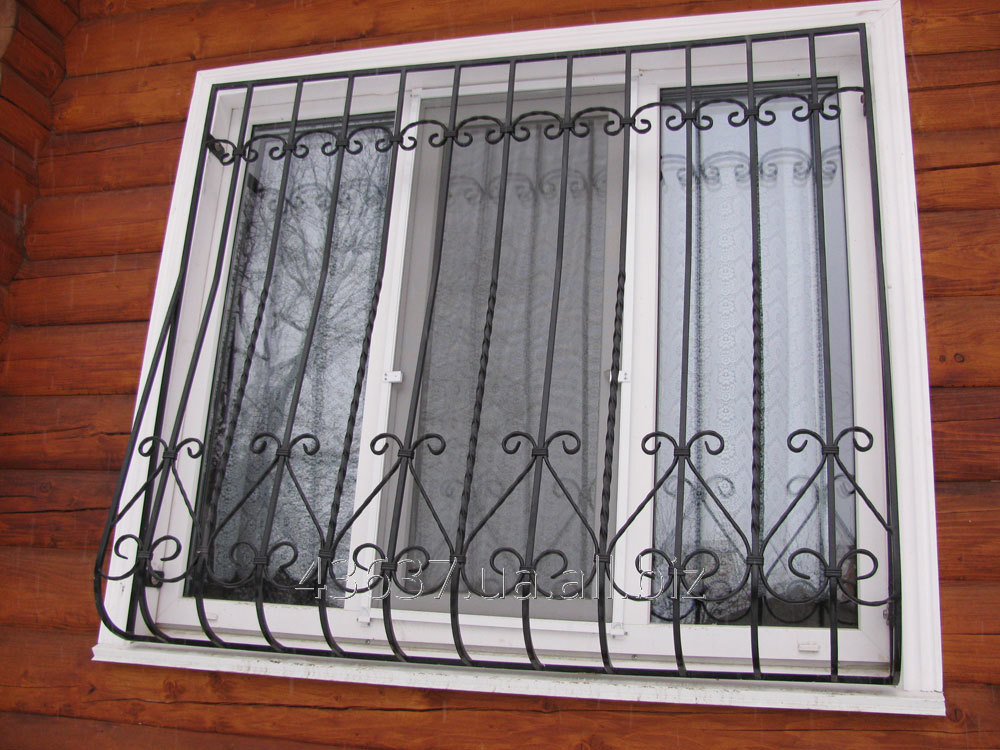Заказать Городские кованные решетки на окна под ключ