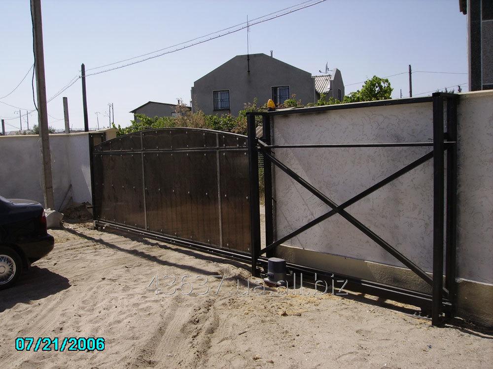Заказать Строительство и монтаж откатных ворот