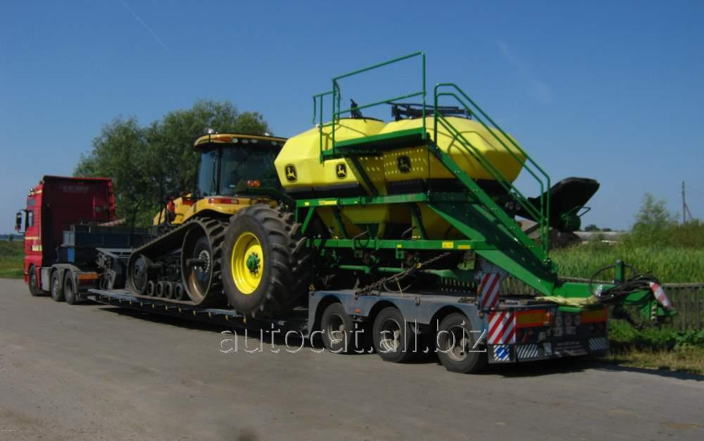 Перевозки негабаритных грузов: сельскохозяйственной с / х техники ( комбайнов, тракторов, опрыскивателей, культиваторов)