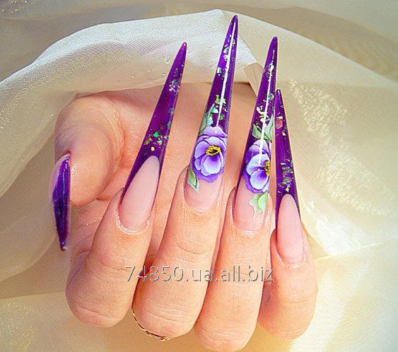 Заказать Наращивание ногтей гелем