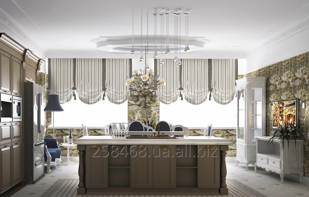 Заказать Дизайн интерьера кухни-столовой