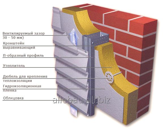 Заказать Монтаж вентилируемых фасадных систем