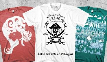 Заказать Печать логотипа на футболках методом шелкографии