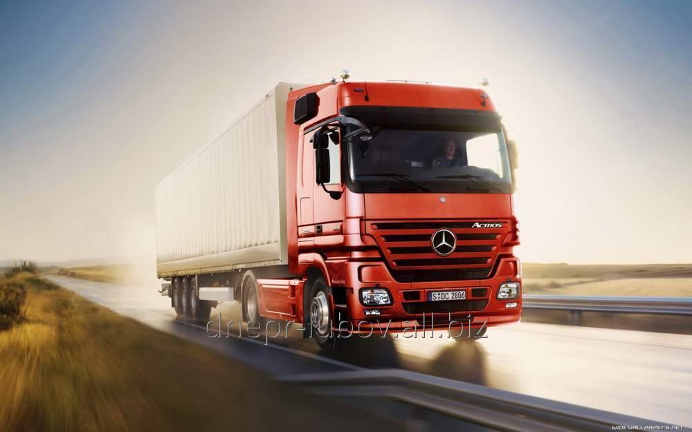 Перевозки грузов международные в Чехию