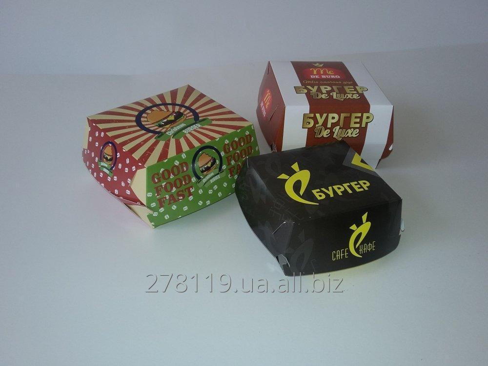 Заказать Упаковка картонная пищевая для фаст фуда