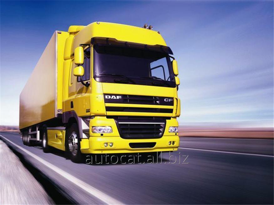 Der Transport von Gütern auf der Straße