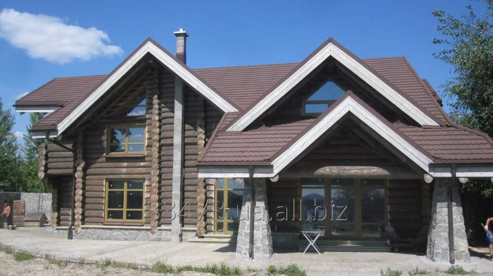 Заказать Строительство домов дикий сруб под ключ