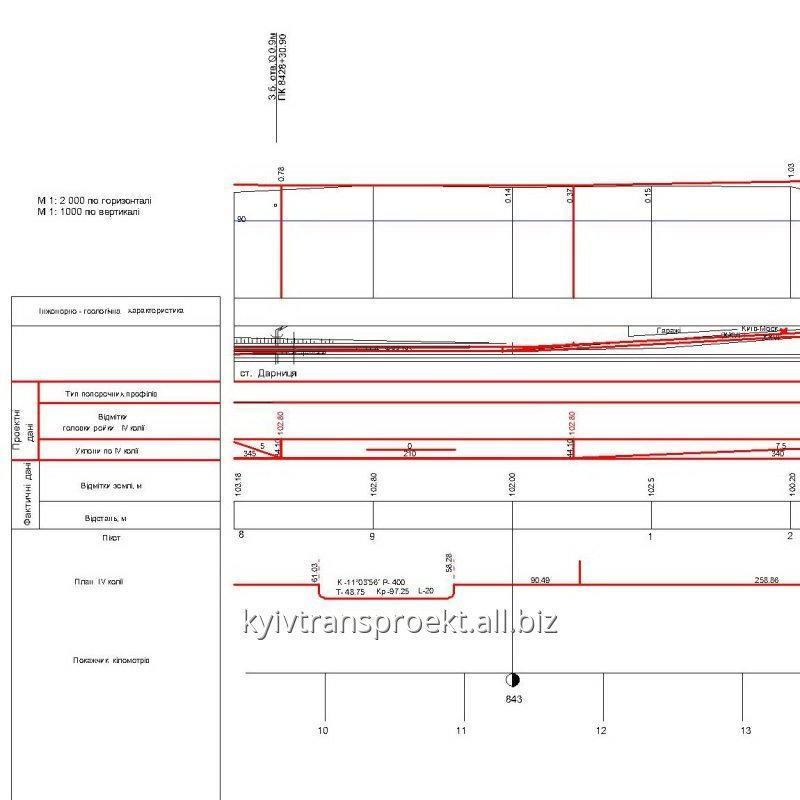 Заказать Проектирование железнодорожных путей