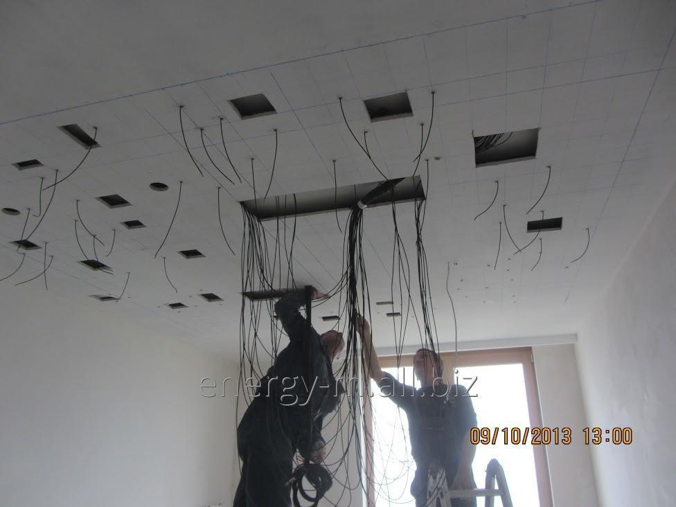 Заказать Электромонтажные работы на стадии строительства дома