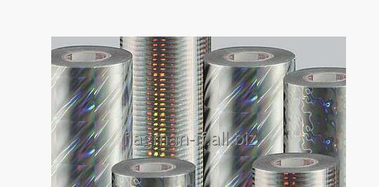 Заказать Нанесение псевдо-голографии на рулонные материалы