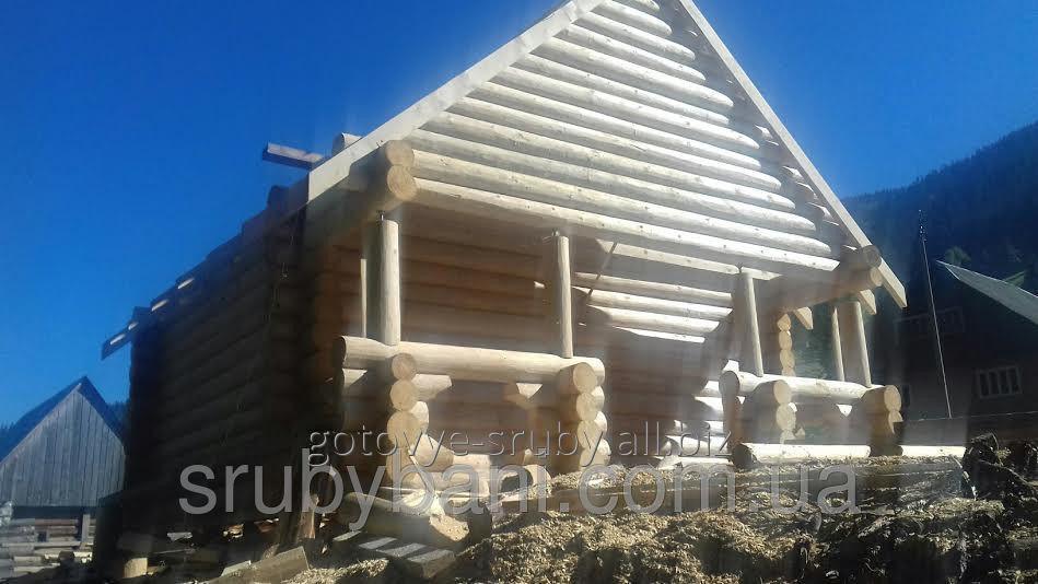 Заказать Готовый загородный дом, дача из дикого сруба