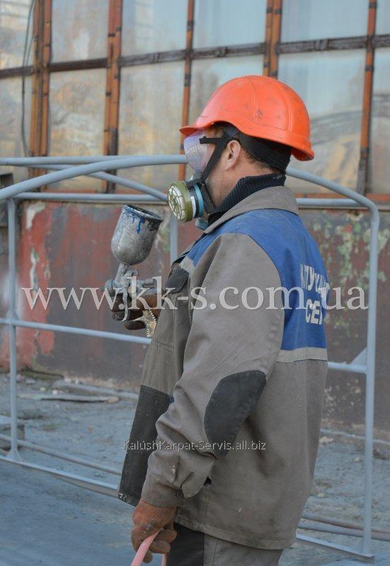Заказать Химзащита поверхностей металлоконструкций и оборудования лакокрасочными материалами