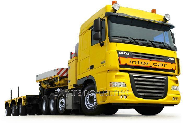 Заказать Автоперевозка негабаритных тяжеловесных грузов