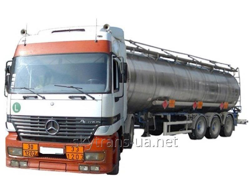 Заказать Перевозка грузов в автомобильных цистернах