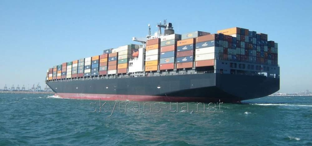 International transportations in sea containers