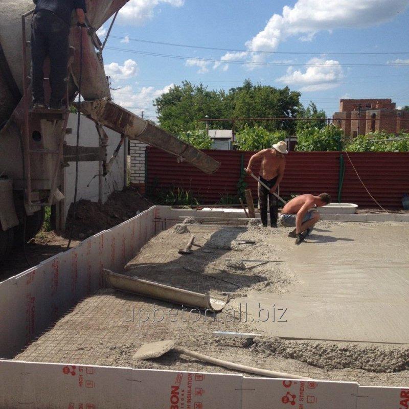 Заказать Заливка и укладка бетона