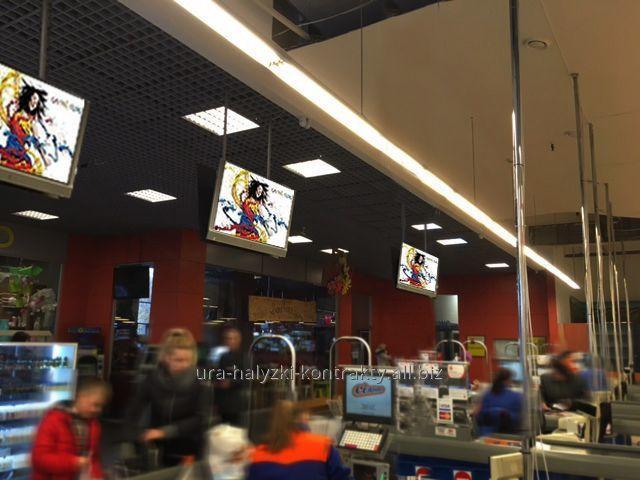 Заказать Indoor реклама в супермаркетах СІЛЬПО и торговых центрах Львова