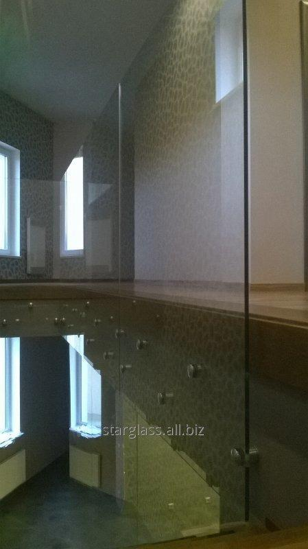 Заказать Изготовление и установка ограждения из стекла в комплексе