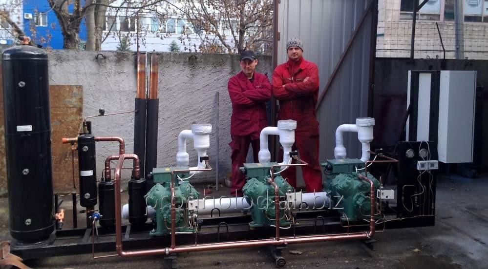 Assembling and installation of condensing units and compressor stations