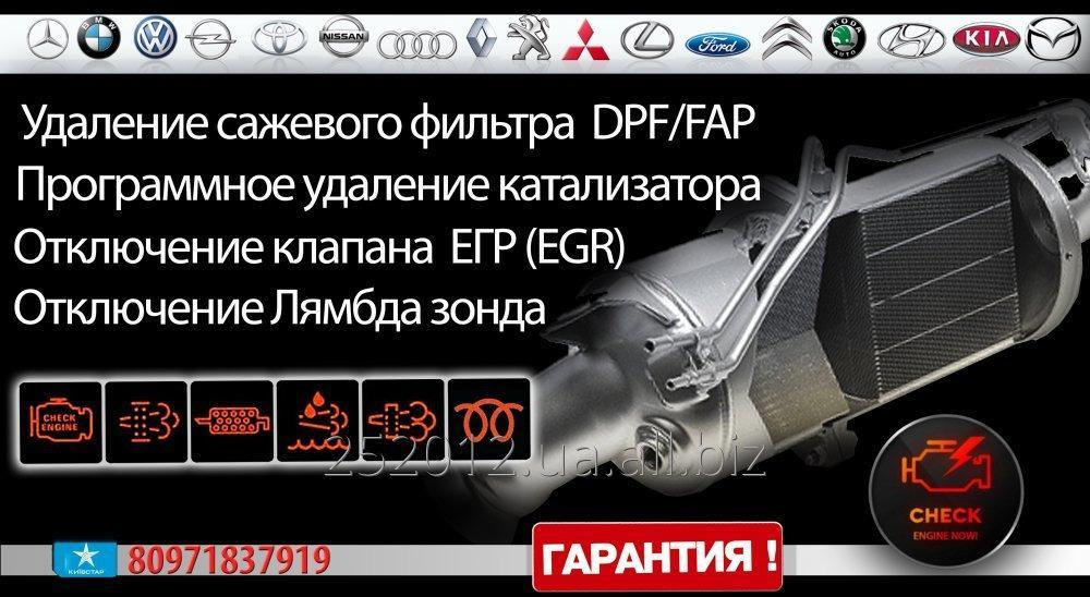 Заказать Удаление сажевого фильтра DPF/FAP