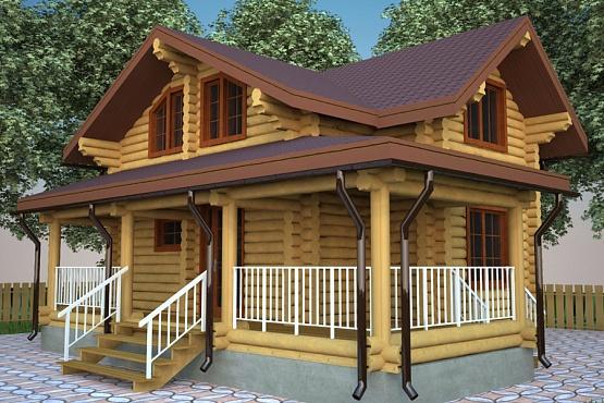 Заказать Строительство дома из дерева проект 1