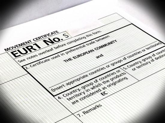 Заказать Сертификат перевозки товаров формы EUR.1
