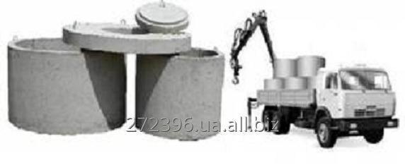 Доставка железобетонных изделий краном-манипулятором