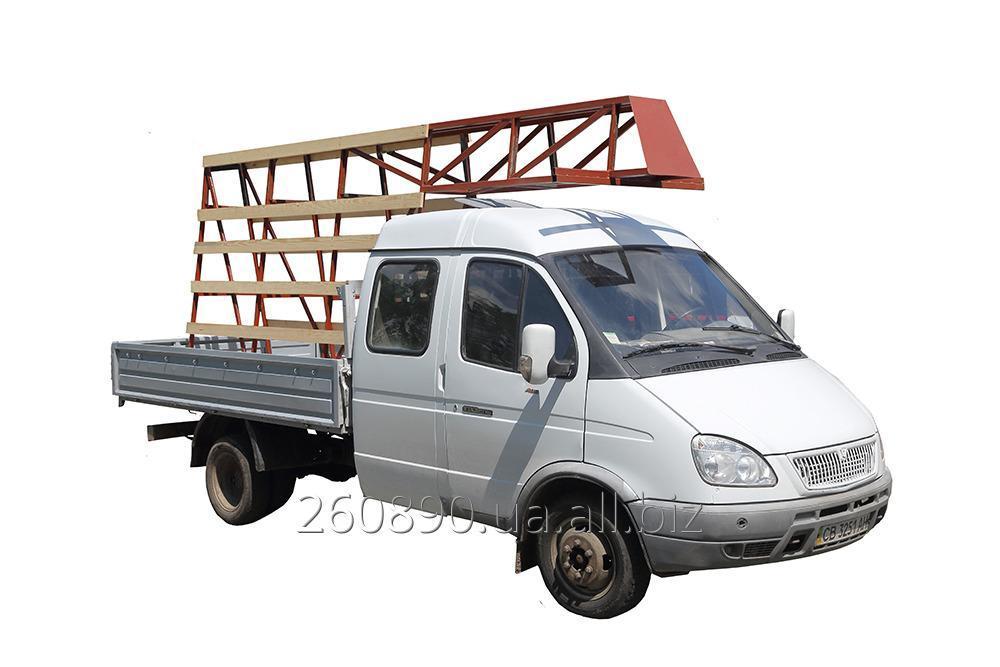 Заказать ГРУЗОПЕРЕВОЗКИ ГАЗель (газ), грузопасссажир. 5 чел., дл.кузова 3 м, пирамида (снимается) - 140 грн/час.