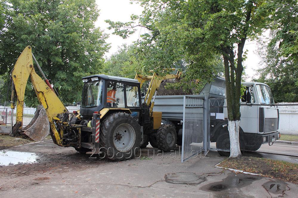 Заказать Экскаватор-погрузчик, ковш передний 0,75 м3, задний 0,25 м3 - 350 грн/час.