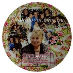 Заказать Печать на тарелках, изготовление тарелок с Вашей фотографией, дизайном или текстом