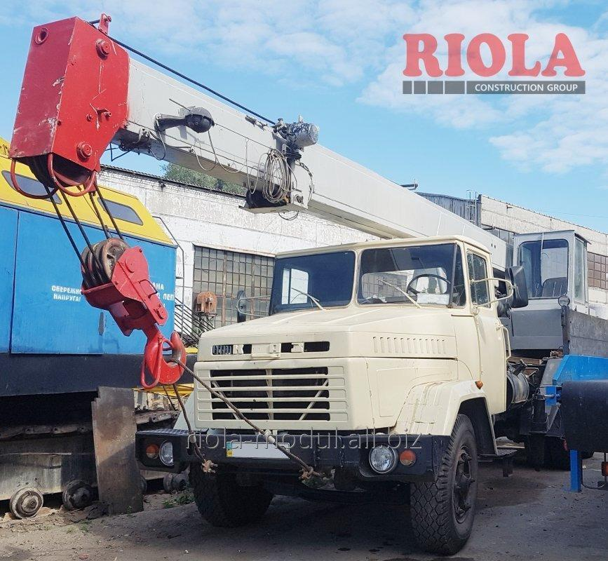 Заказать Аренда автокрана КрАЗ г/п 10 т стрела -14 м