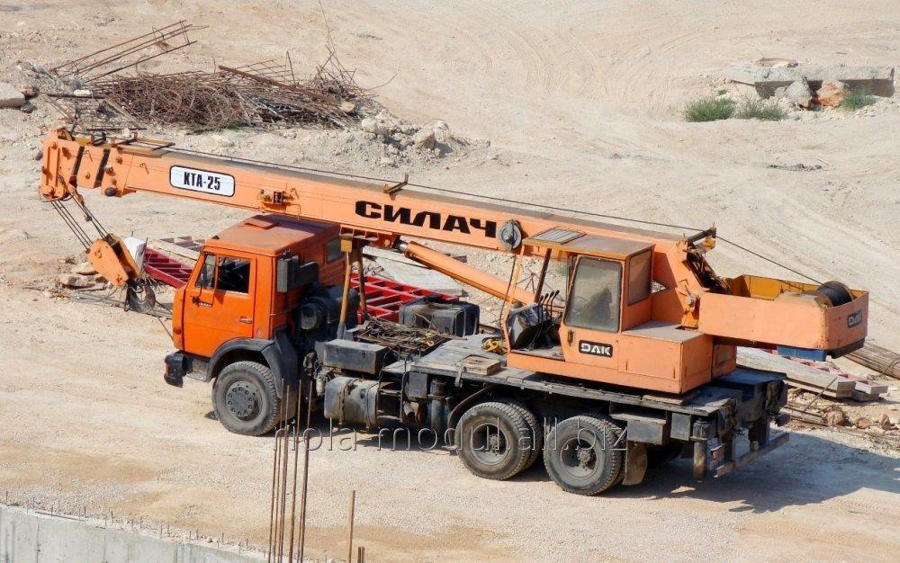 Заказать Услуги автокрана КАМАЗ 25 т 22 м