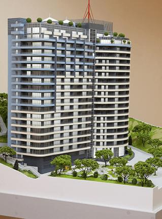 Заказать Изготовление макета жилого комплекса