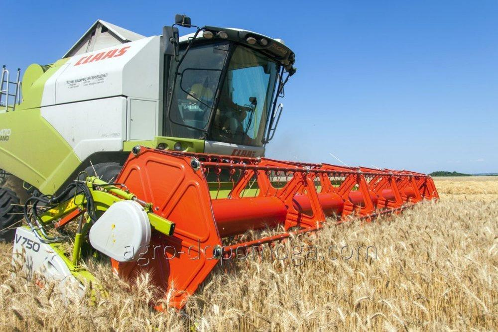 Services of combines in harvesting