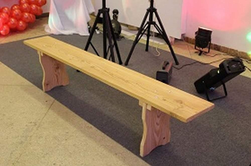 Заказать Аренда скамейки деревянной раскладной