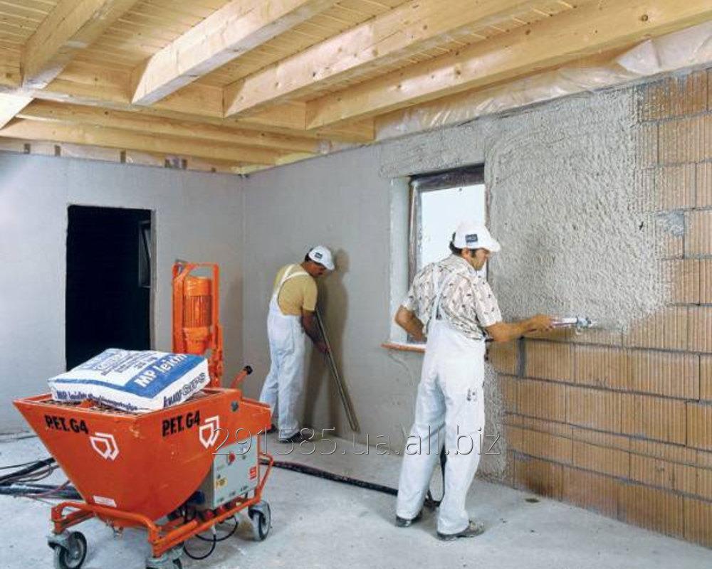 Заказать Машинная механизированная штукатурка стен, фасадов, потолков, откосов