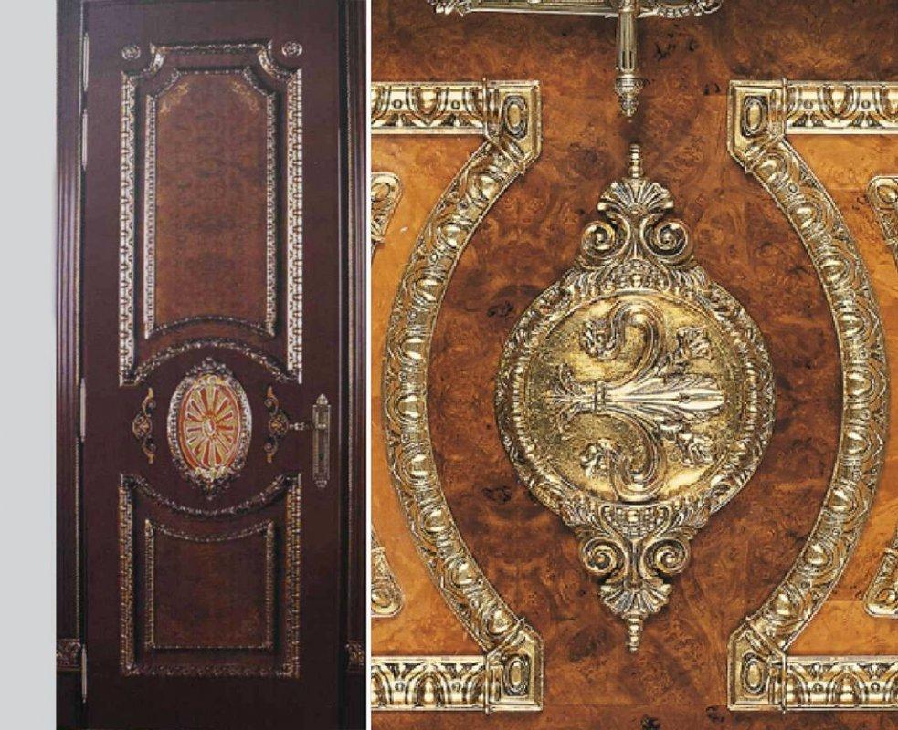 Заказать Декоративная резьба по дереву на двери, комплект 1