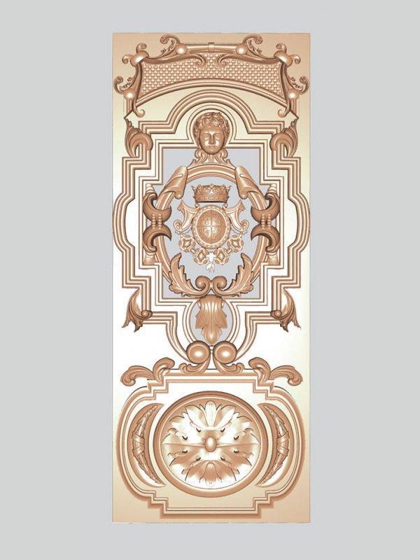 Заказать Декоративная резьба по дереву на двери, комплект 2