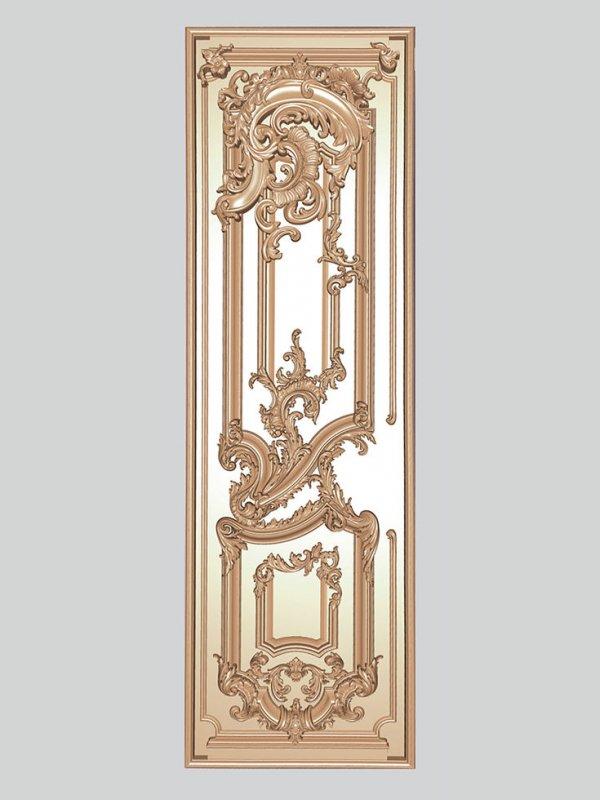 Заказать Декоративная резьба по дереву на двери, комплект 3