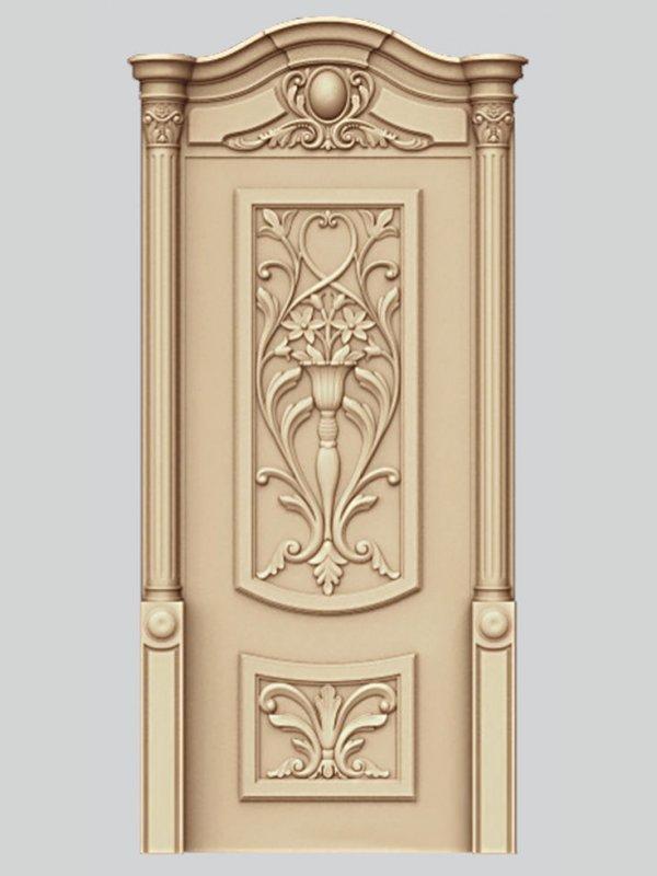 Заказать Декоративная резьба по дереву на двери, комплект 4