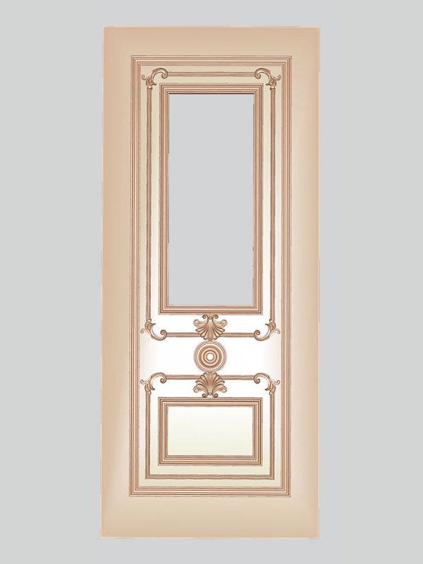 Заказать Декоративная резьба по дереву на двери, комплект 6