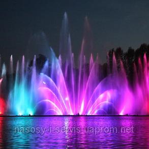 Заказать Лазерное шоу на воде - водный экран