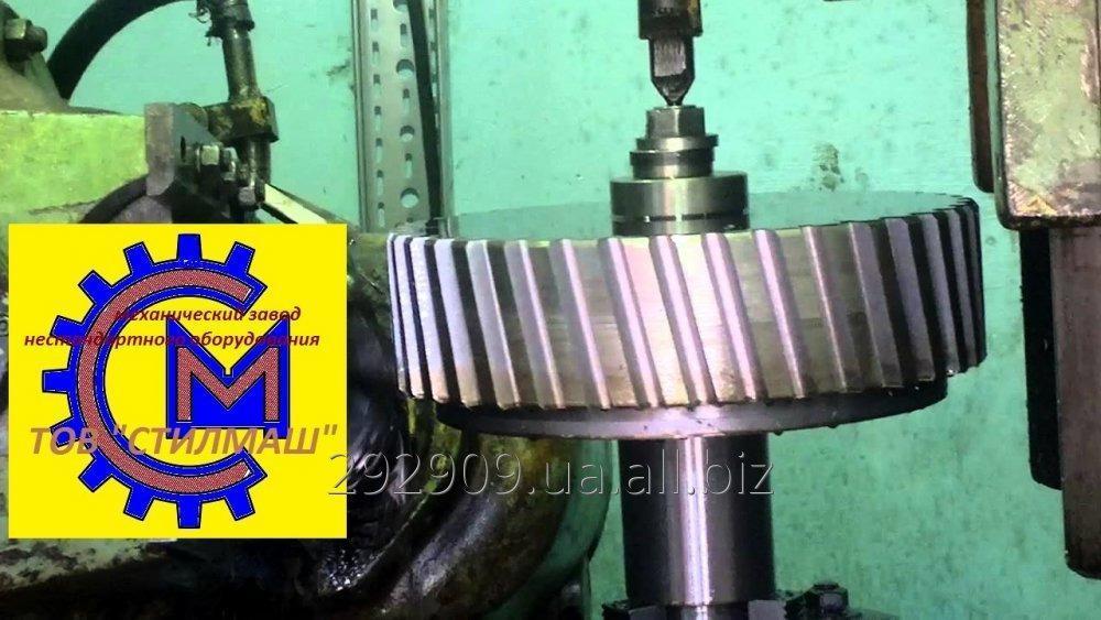 Заказать  зубофрезерні роботи: вал-шестерні модулем до 16 мм, зовнішнім діаметром до 1300 мм, довжиною до 2000 мм; - шестерні модулем до 16 мм, зовнішнім діаметром до 1300 мм;