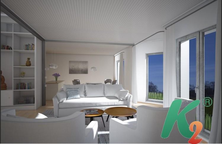 3D визуализация, 3D дизайн гостинной-кухни