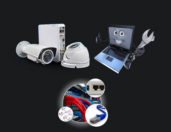 Заказать Установка внешней или антивандальной камеры (IP, аналого-вая, HDCVI) до 2.8 метров