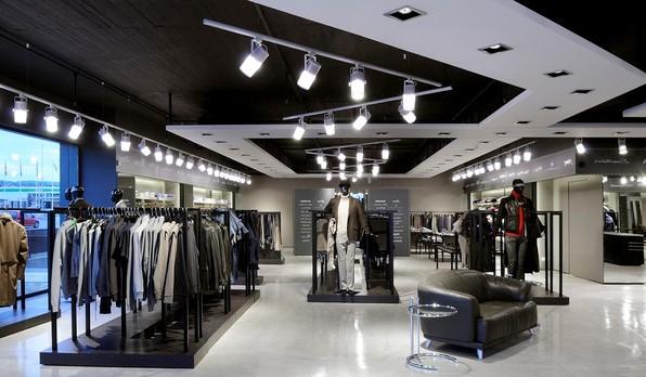 Освещение магазинов: виды светильников и ламп