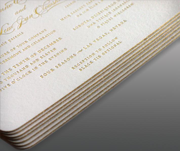 Покраска торцов, граней визиток, приглашений