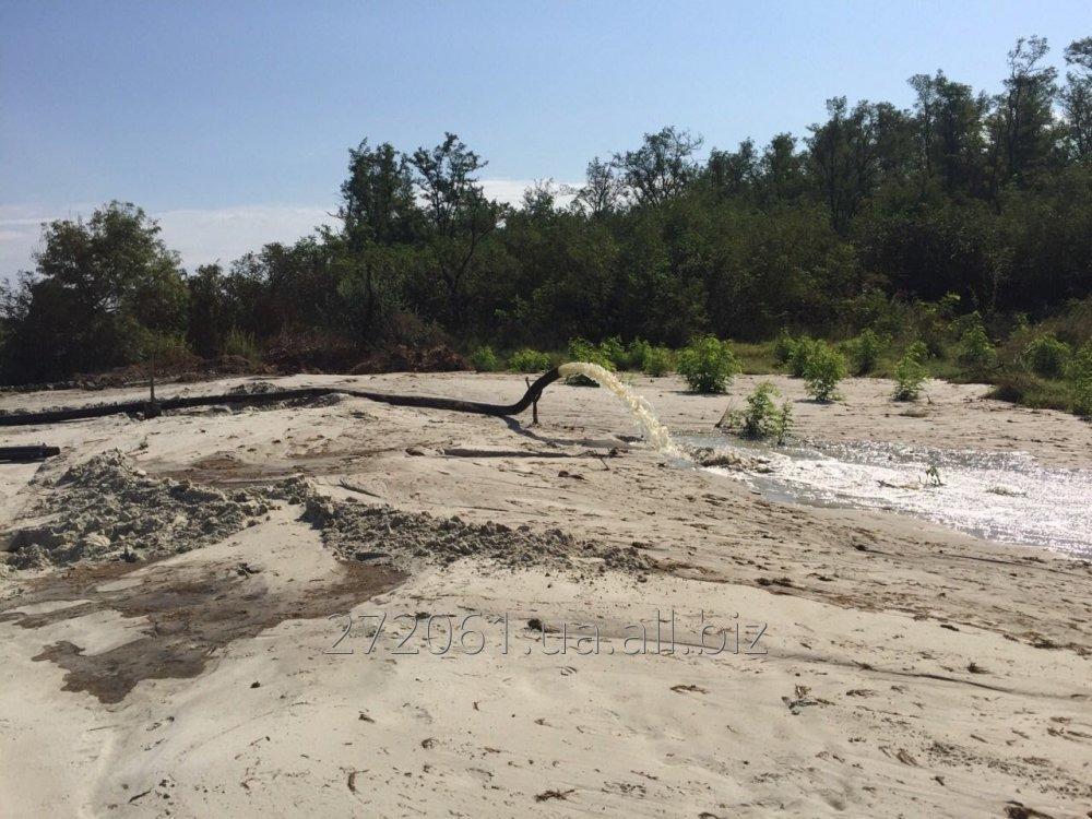 Заказать Намыв песка при помощи земснаряда DRW