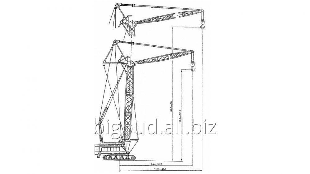 Заказать Услуги Гусеничного крана КС-8165 (100 тонн)