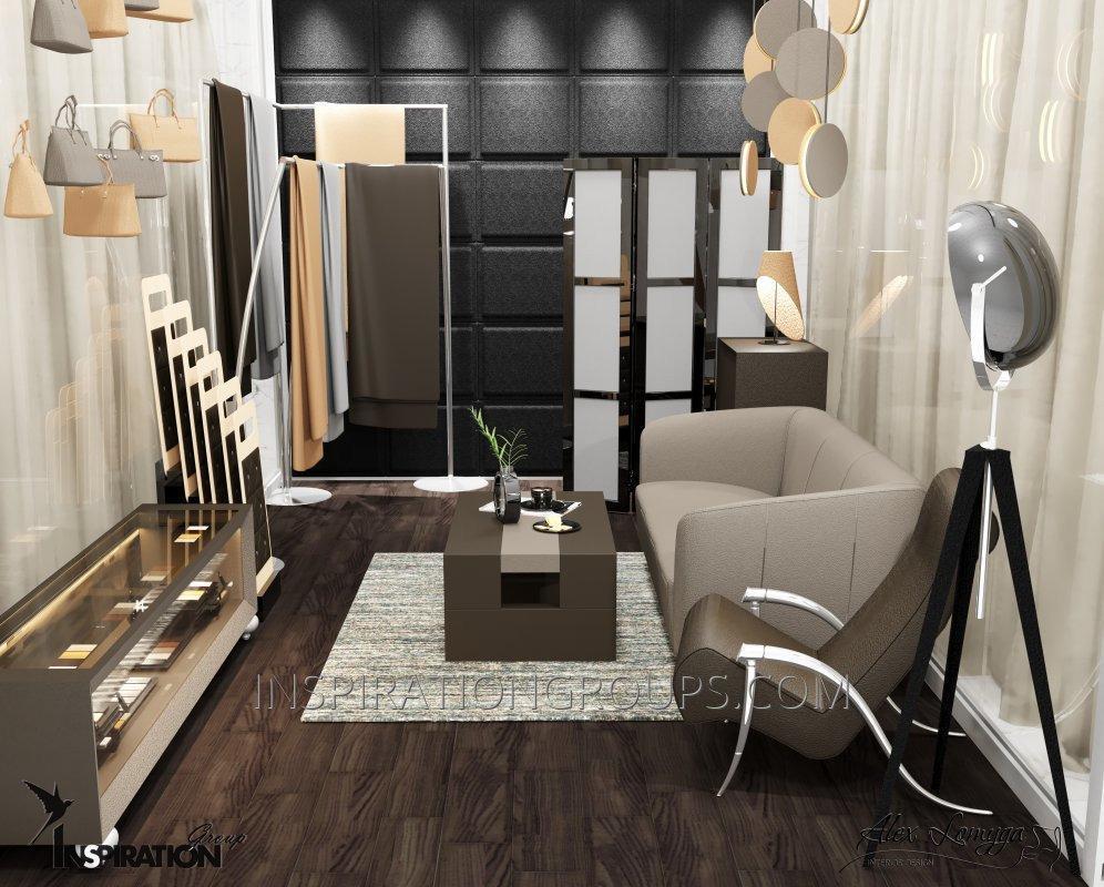 Дизайн интерьера сетевых бутиков, мини магазинов